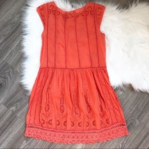 Anthropologie Dresses - Anthropologie Meadow Rue Watermelon Ice Lace Dress